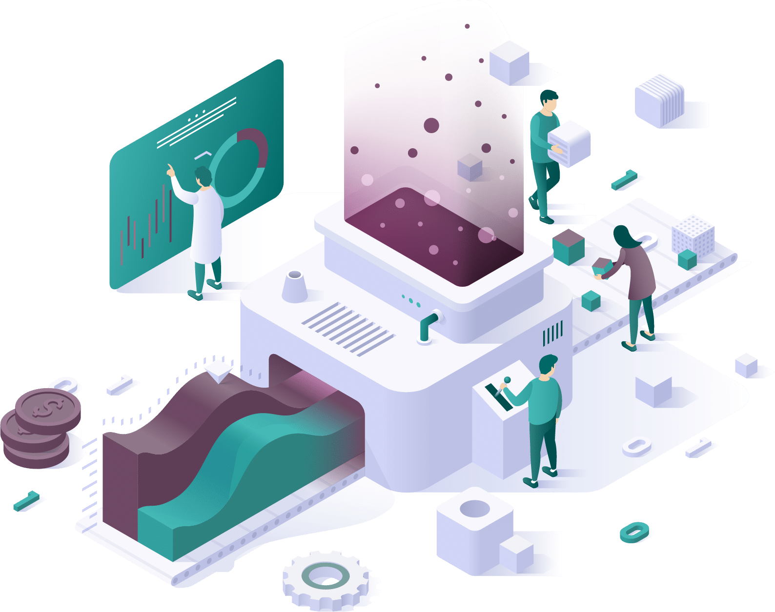 Isometric representation of application development